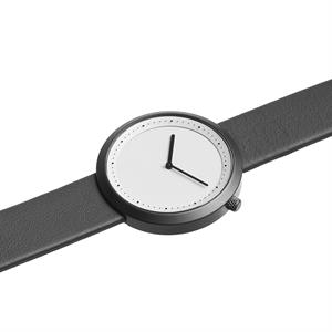 Facette Watch Gun Grey Steel on Grey Italian Leather